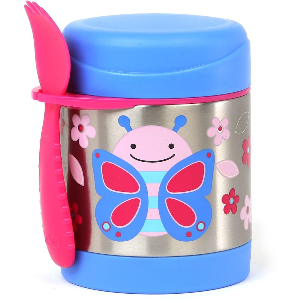 Skip Hop Thermobehälter »Zoo Edelstahl Warmhaltebehälter Schmetterling«, (2 tlg.), mit Multibesteck