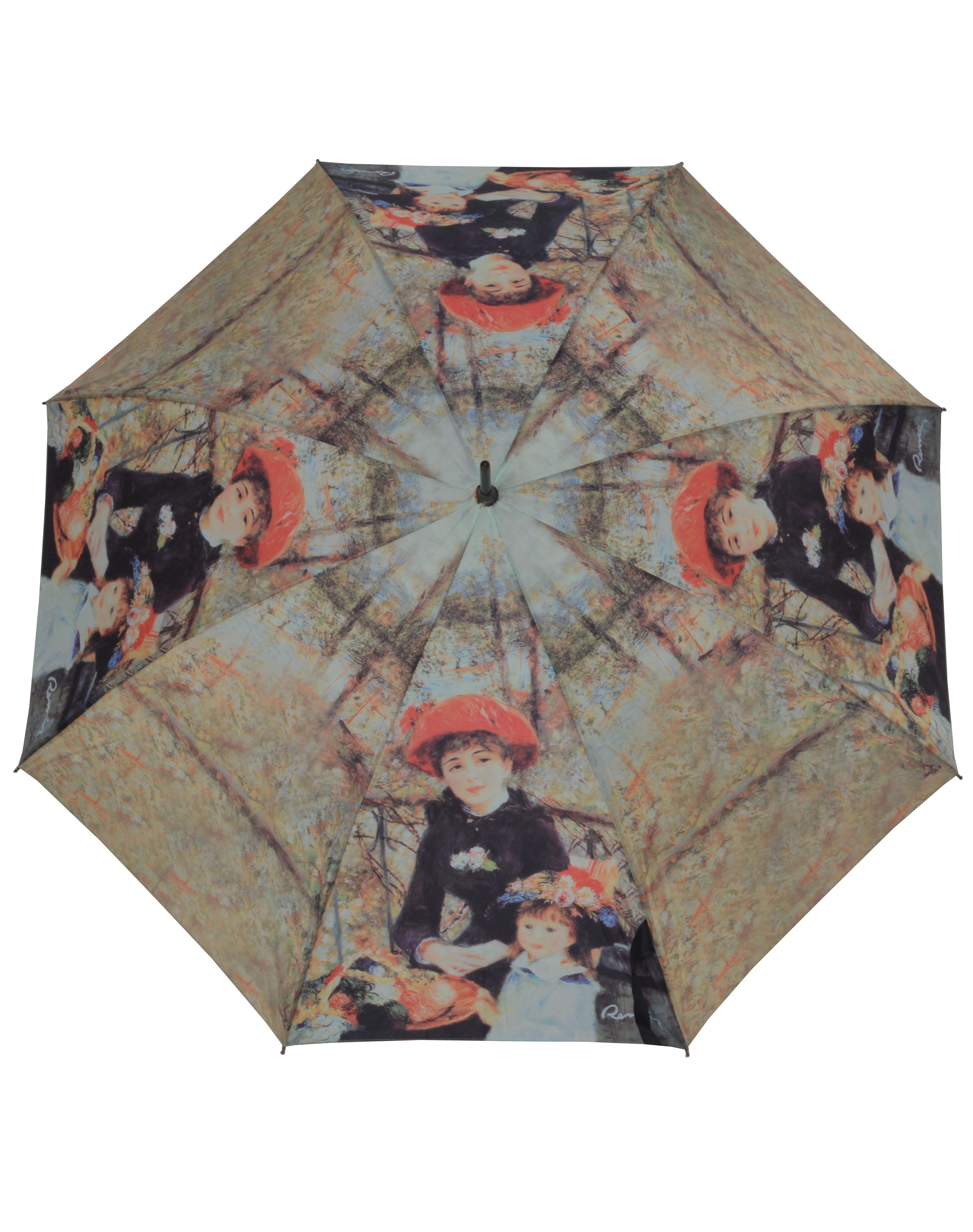 doppler®, Stockregenschirm zwei Schwestern | Accessoires > Regenschirme > Sonstige Regenschirme | Braun | Fiberglas | DOPPLER
