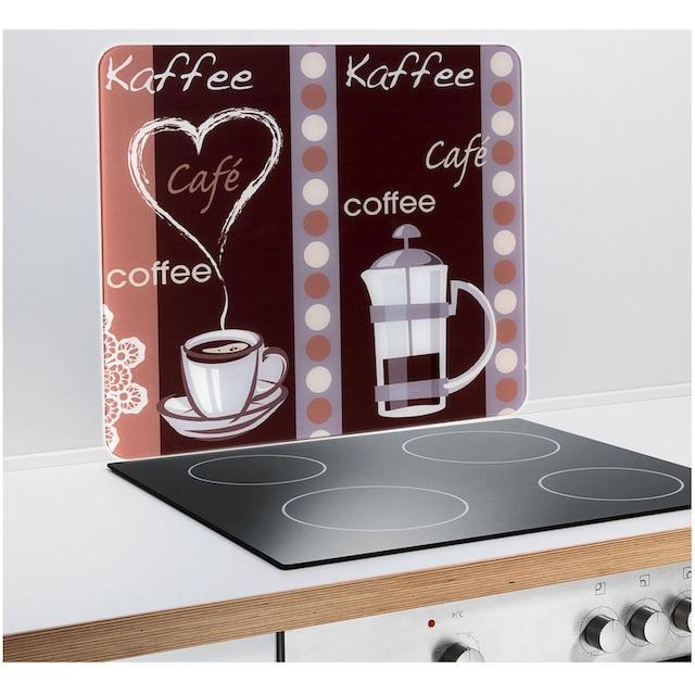 """WENKO Schneide- und Abdeckplatte """"Kaffeeduft"""", Glas, (1-tlg.)"""