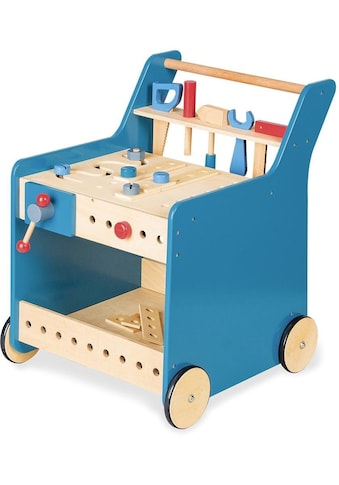 Pinolino® Werkbank »Kalle, blau«, mit 4 Rollen kaufen