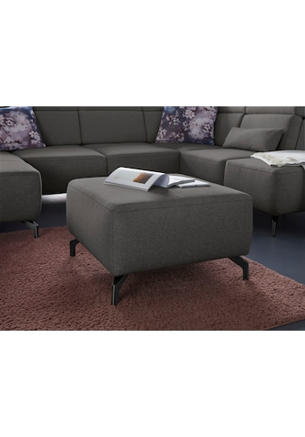 sit&more Hocker, Fußhöhe 12 cm, wahlweise in 2 unterschiedlichen Fußfarben kaufen
