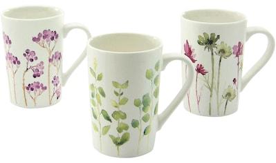 CreaTable Becher »Botanica«, (Set, 6 tlg.), New Bone China Porzellan, Blumenmotive kaufen