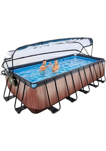 EXIT Framepool, (Set), BxLxH: 250x540x122 cm, mit Sonnendach, Sandfilter kaufen