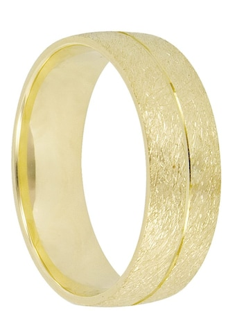 Firetti Trauring mit Gravur »6,0 mm, strukturiert, mit Glanzfräsung, Gelbgold« kaufen