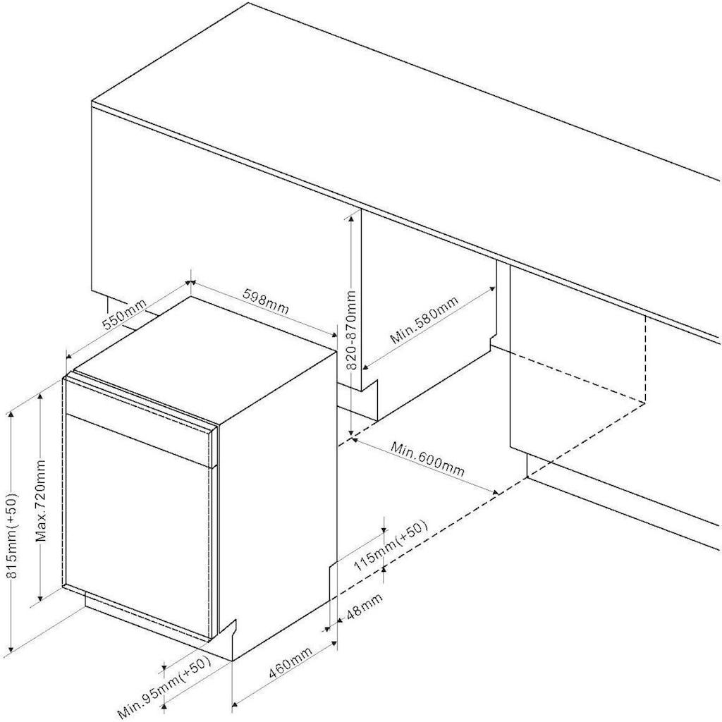 Amica vollintegrierbarer Geschirrspüler »EGSPV 593 910-1«, EGSPV 593 910-1, 13 Maßgedecke