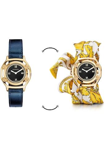 Versace Schweizer Uhr »Medusa Frame, VEVF00720«, (Set, 2 tlg., Uhr mit Lederband und Seidentuch) kaufen