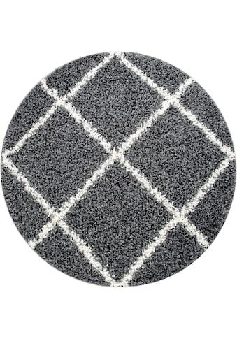 Home affaire Hochflor-Teppich »Kalmarova«, rund, 45 mm Höhe, grafisches Design,... kaufen
