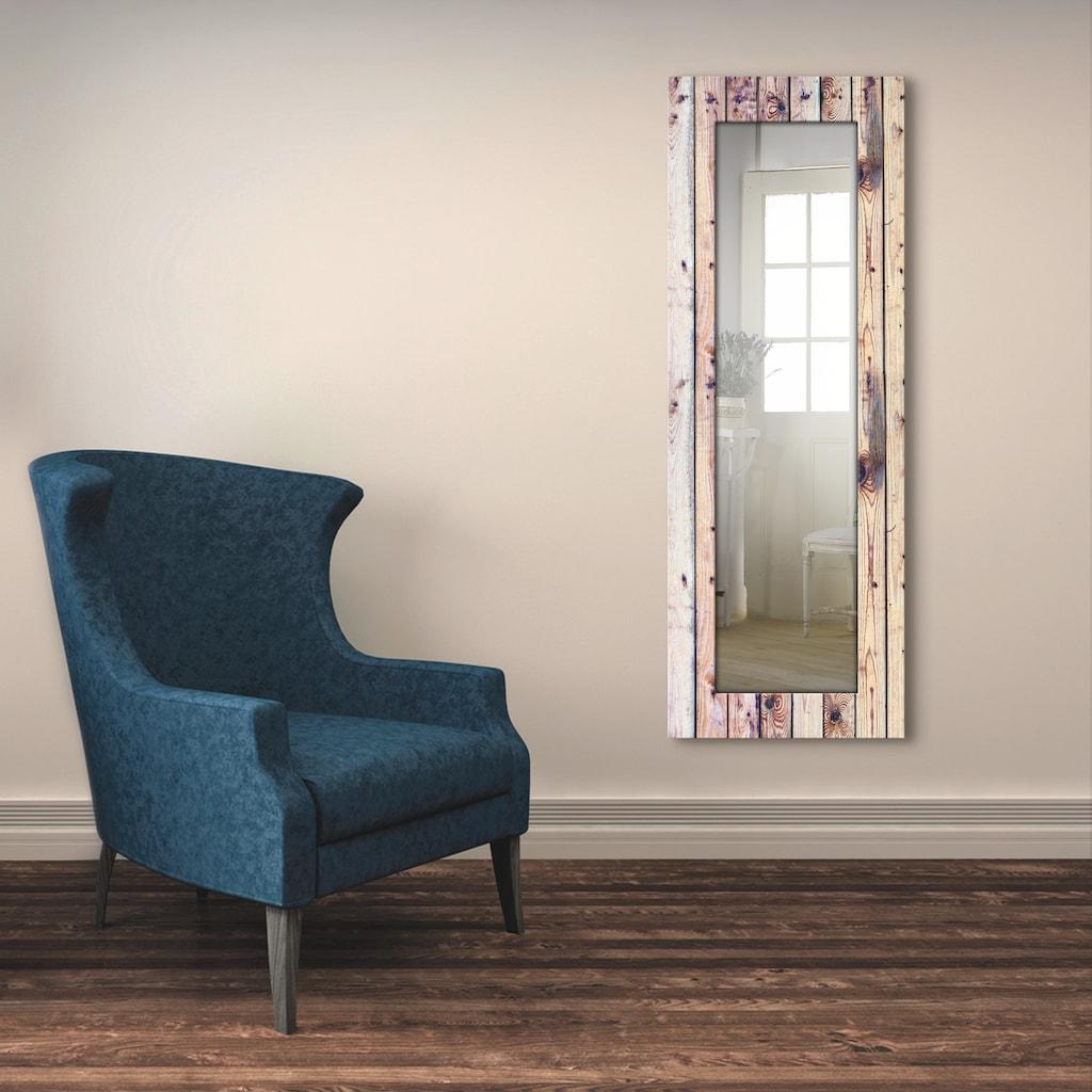 Artland Wandspiegel »Weißer Vintage-Hintergrund«, gerahmter Ganzkörperspiegel mit Motivrahmen, geeignet für kleinen, schmalen Flur, Flurspiegel, Mirror Spiegel gerahmt zum Aufhängen
