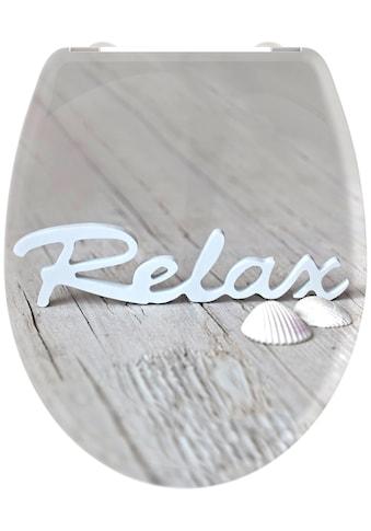 welltime WC-Sitz »Relax«, hochwertiger abnehmbarer Premium-Toilettendeckel mit... kaufen