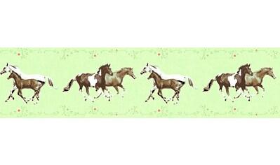 LIVINGWALLS Bordüre »Little Stars mit Pferden«, für das Kinderzimmer, Vlies, PVC - frei kaufen