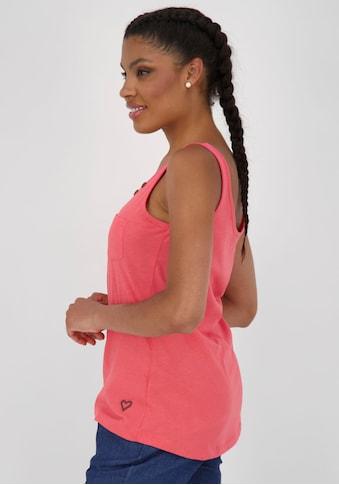 Alife & Kickin Tanktop »JennyAK«, feminines Jersey-Top mit Knopf-Details kaufen