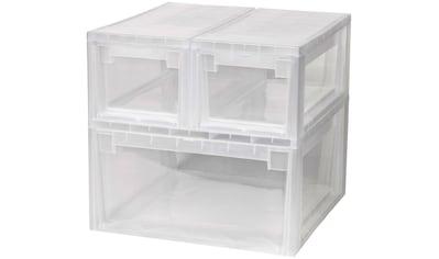 KREHER Aufbewahrungsbox »1x 23 Liter und 2x 7 Liter, mit Schubladen« 3er Set kaufen