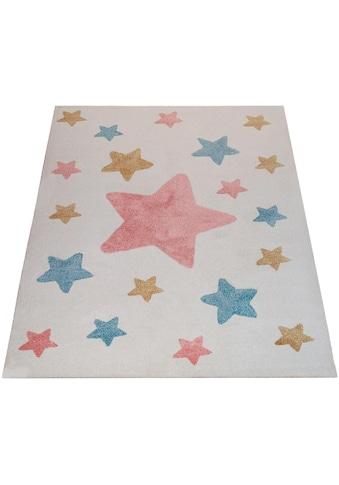 Paco Home Kinderteppich »Capri 330«, rechteckig, 14 mm Höhe, Kinder Design, Stern... kaufen