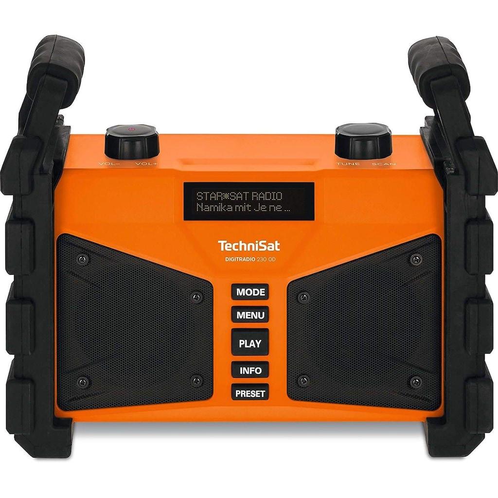 TechniSat Digitalradio (DAB+) »DIGITRADIO 230 OD«, (A2DP Bluetooth-Bluetooth-AVRCP Bluetooth Digitalradio (DAB+), mit Akku und Bluetooth