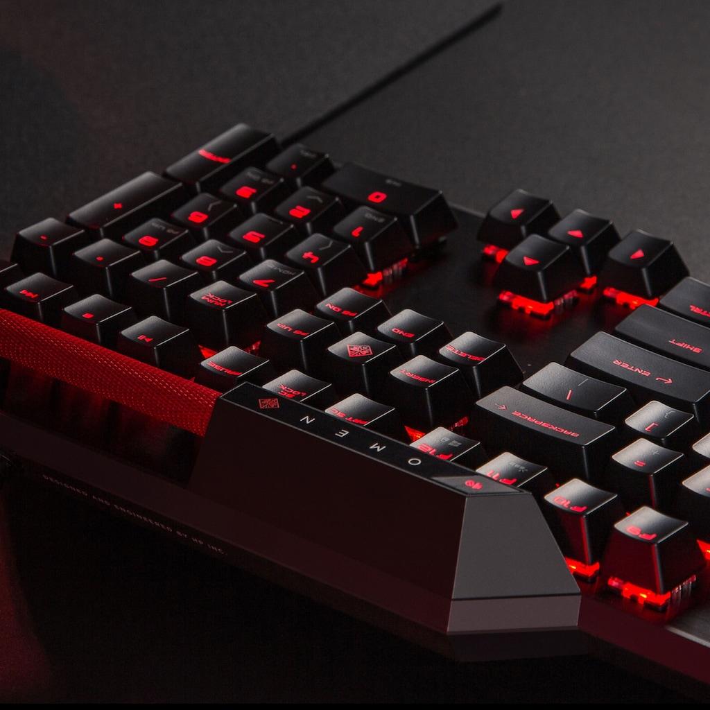 HP Tastatur »Protiere von optischen Switches. Strike faster.«, (Makro-Tasten-USB-Anschluss-Gaming-Modus), OMEN by HP Sequencer Tastatur