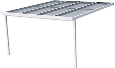 GUTTA Terrassendach »Premium«, BxT: 410x406 cm, Dach Polycarbonat gestreift weiß kaufen