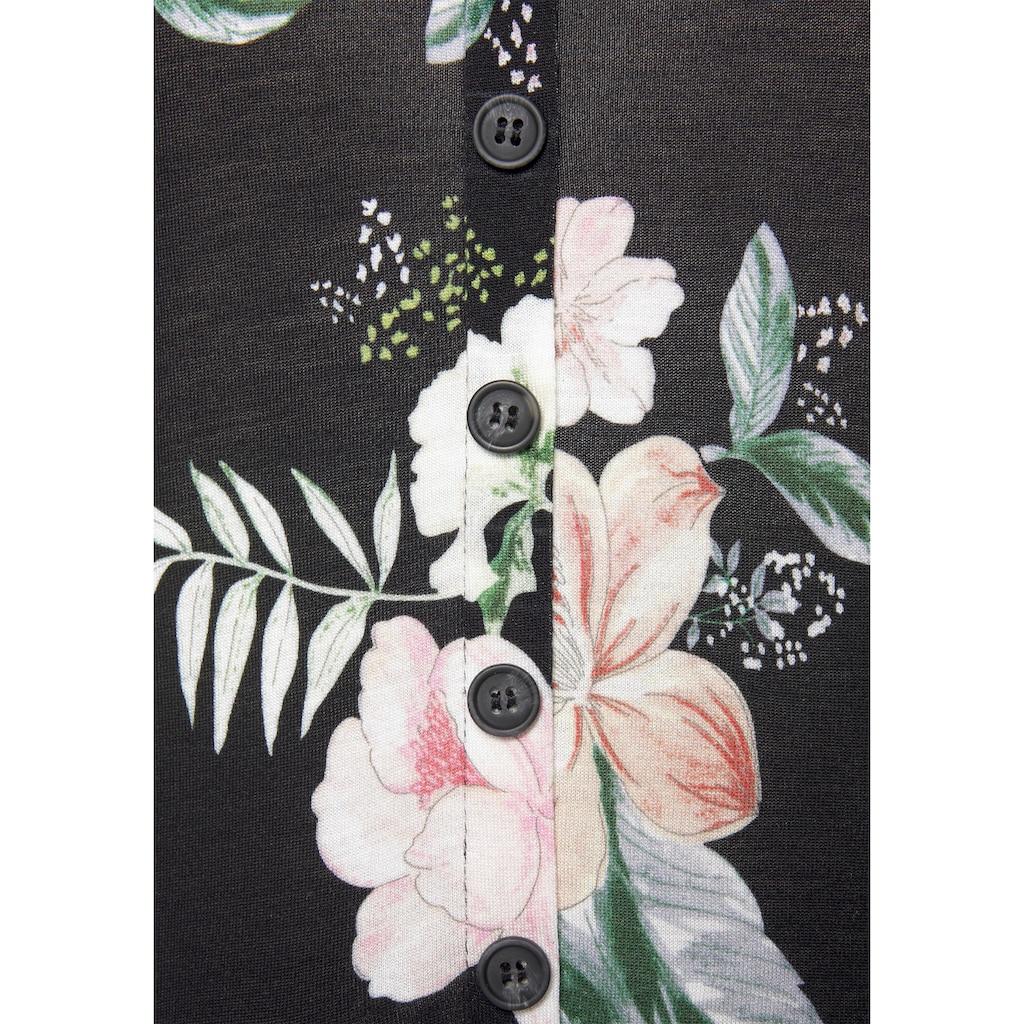 LASCANA Kurzoverall, mit Blumendruck