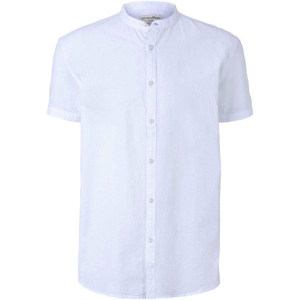 TOM TAILOR Denim Kurzarmhemd, mit einer Knopfleiste