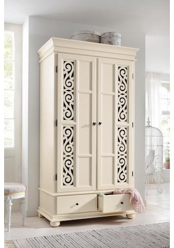Premium collection by Home affaire Drehtürenschrank »Arabeske«, aus teilmassivem Holz mit schönen Ornamenten auf den Türfronten kaufen