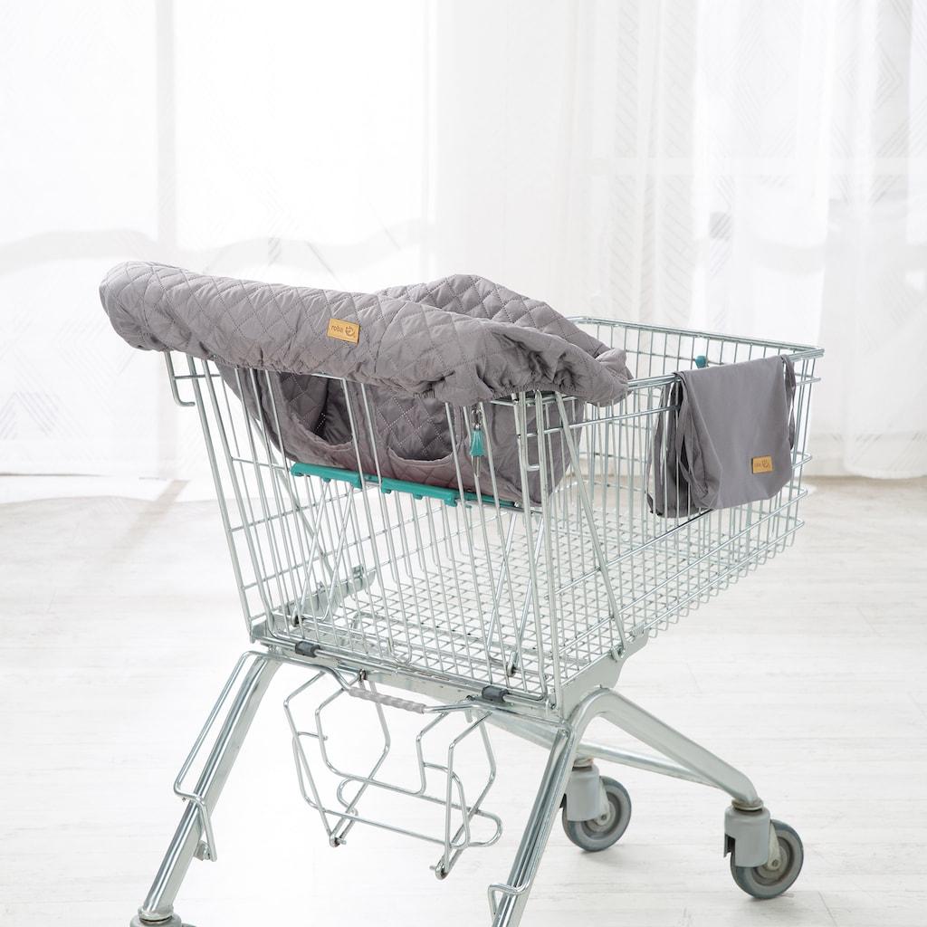roba® Tragetuch »Style, anthrazit«, Einkaufswagenschutz inkl. Tragerucksack
