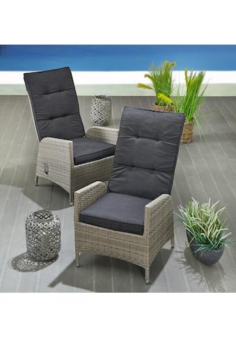 KONIFERA Gartenstuhl »Alva«, 2er Set, stufenlos verstellbar kaufen