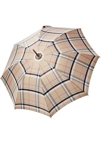 doppler MANUFAKTUR Stockregenschirm »Serge, kastanie karo«, handgemachter Manufaktur-Stockschirm kaufen