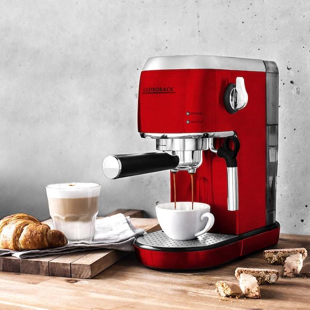 Gastroback Espressomaschine 42719 Design Espresso Piccolo rot