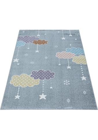 Ayyildiz Kinderteppich »LUCKY 3611«, rechteckig, 11 mm Höhe, Kinder Wolken Sterne Motivteppich kaufen
