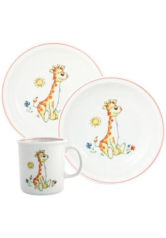 TRIPTIS® Thüringer Meisterporzellan Kindergeschirr-Set »Giraffe«, (Set, 3 tlg.), mit... kaufen