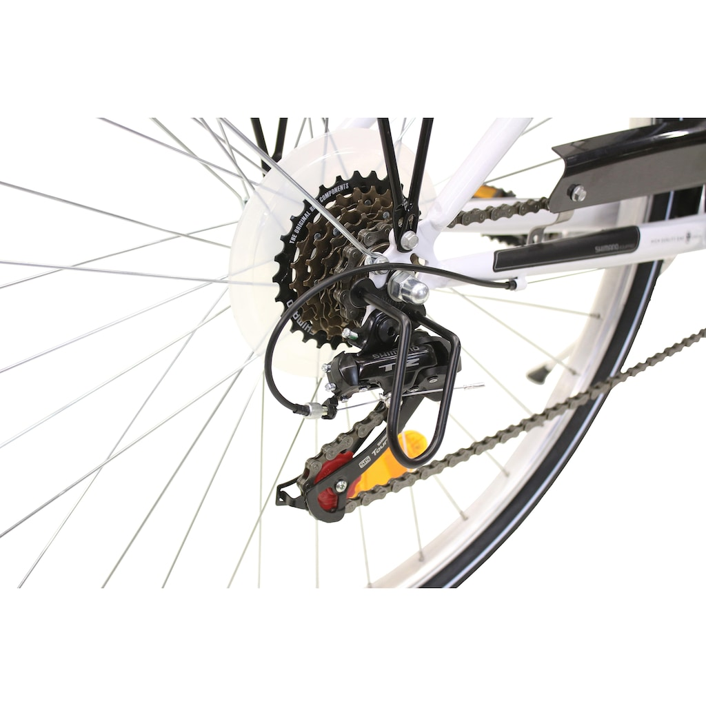 FASHION LINE Cityrad, 6 Gang, Shimano, TZ 50 Schaltwerk, Kettenschaltung