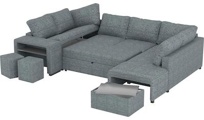 Home affaire Big-Sofa »Maxx«, mit einer integrierten Bettfunktion, inklusive eines... kaufen