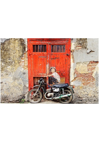 Art & Pleasure Acrylglasbild »Street art motorcycle«, Fahrzeuge kaufen