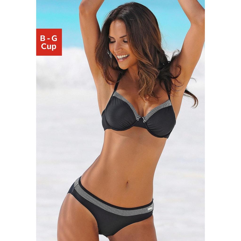 LASCANA Bügel-Bikini, mit gestreiften Einsätzen