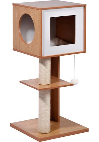 dobar Kratzbaum »Susy«, hoch, BxTxH: 49x40x91 cm, mit Spielball, Katzenhöhle mit... kaufen