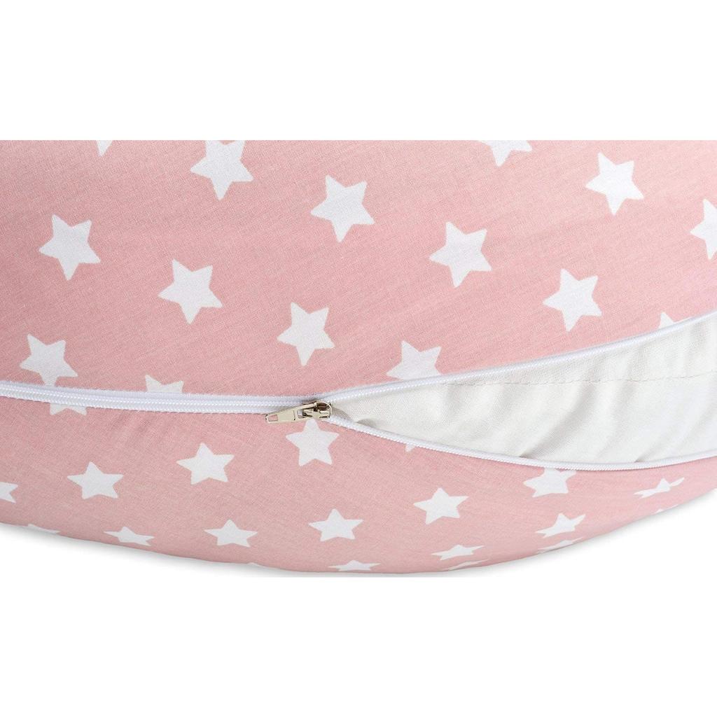SEI Design Stillkissen »Vintage Sterne pastel-rosa EPS«, mit hochwertiger Stickerei mit niedlichen Vintage-Motiven