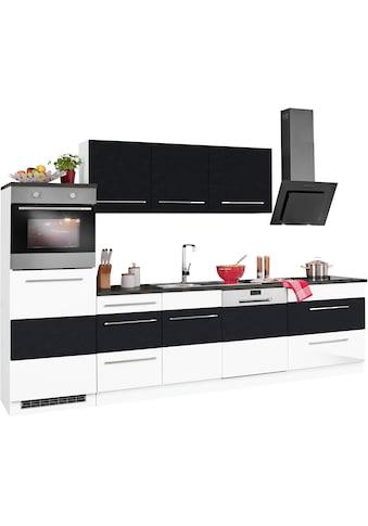 HELD MÖBEL Küchenzeile »Trient«, mit E - Geräten, Breite 300 cm mit Stangengriffen aus Metall kaufen