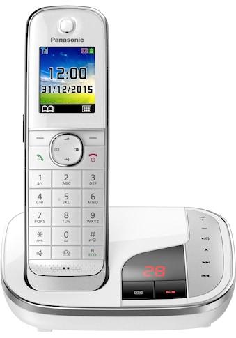 Panasonic Schnurloses DECT-Telefon »KX-TGJ320«, (Mobilteile: 1 ), mit Anrufbeantworter, Weckfunktion, Freisprechen kaufen