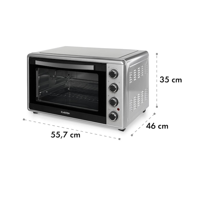 Klarstein Mini-Backofen 45l 2000W 100-230 °C Timer »Masterchef45-SL«