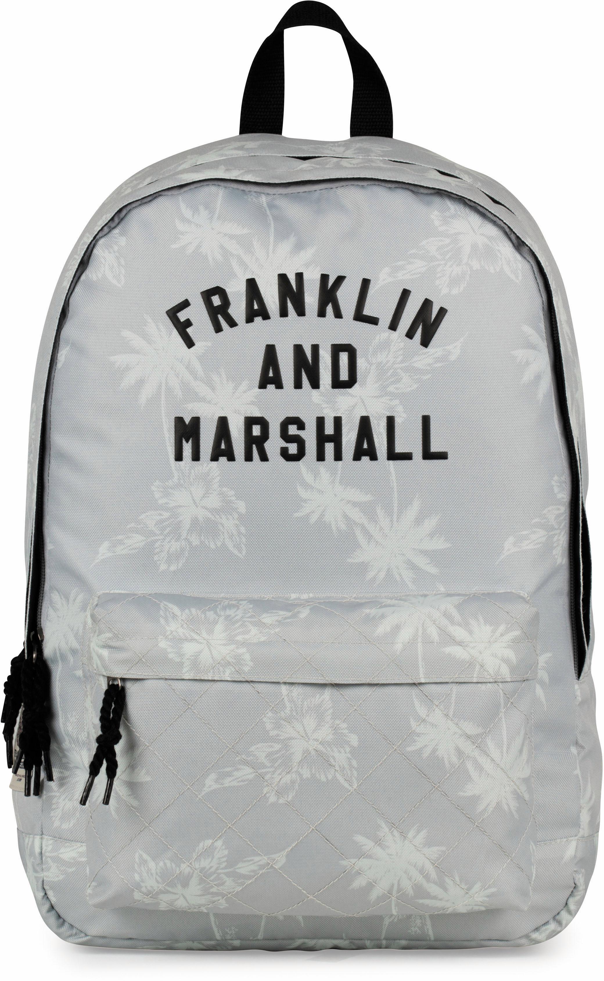 Franklin & Marshall Rucksack mit 2 Hauptfächern, »Girls Palmen, grau« | Taschen > Rucksäcke > Sonstige Rucksäcke | Grau | FRANKLIN & MARSHALL