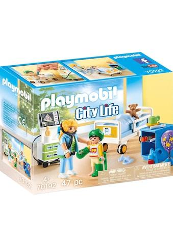Playmobil® Konstruktions-Spielset »Kinderkrankenzimmer (70192), City Life«, (47 St.),... kaufen