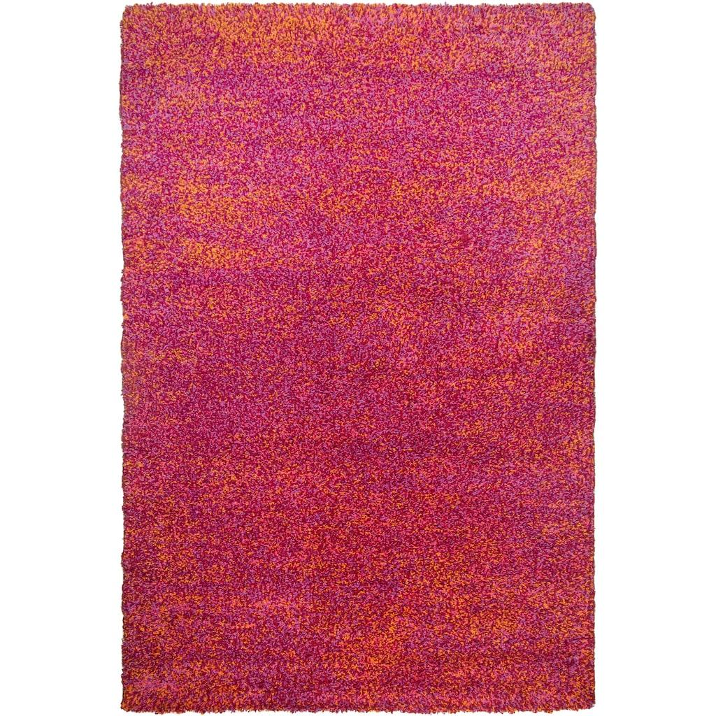 THEKO Hochflor-Teppich »Color Shaggy 521«, rechteckig, 35 mm Höhe, handgewebt