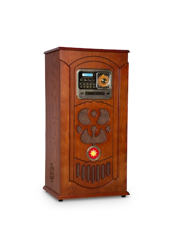 Auna Jukebox, Plattenspieler, CD-Player, BT, USB, SD, UKW-Tuner, Holz kaufen