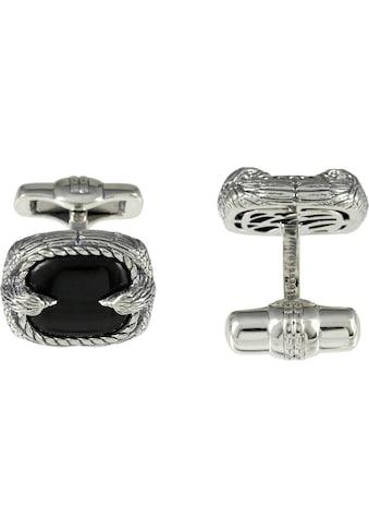 BALDESSARINI Manschettenknöpfe »Adler, Y2045C/90/E3«, mit Obsidian kaufen