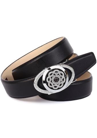 Anthoni Crown Ledergürtel, mit silberfarbener Automatik-Schließe und drehender... kaufen