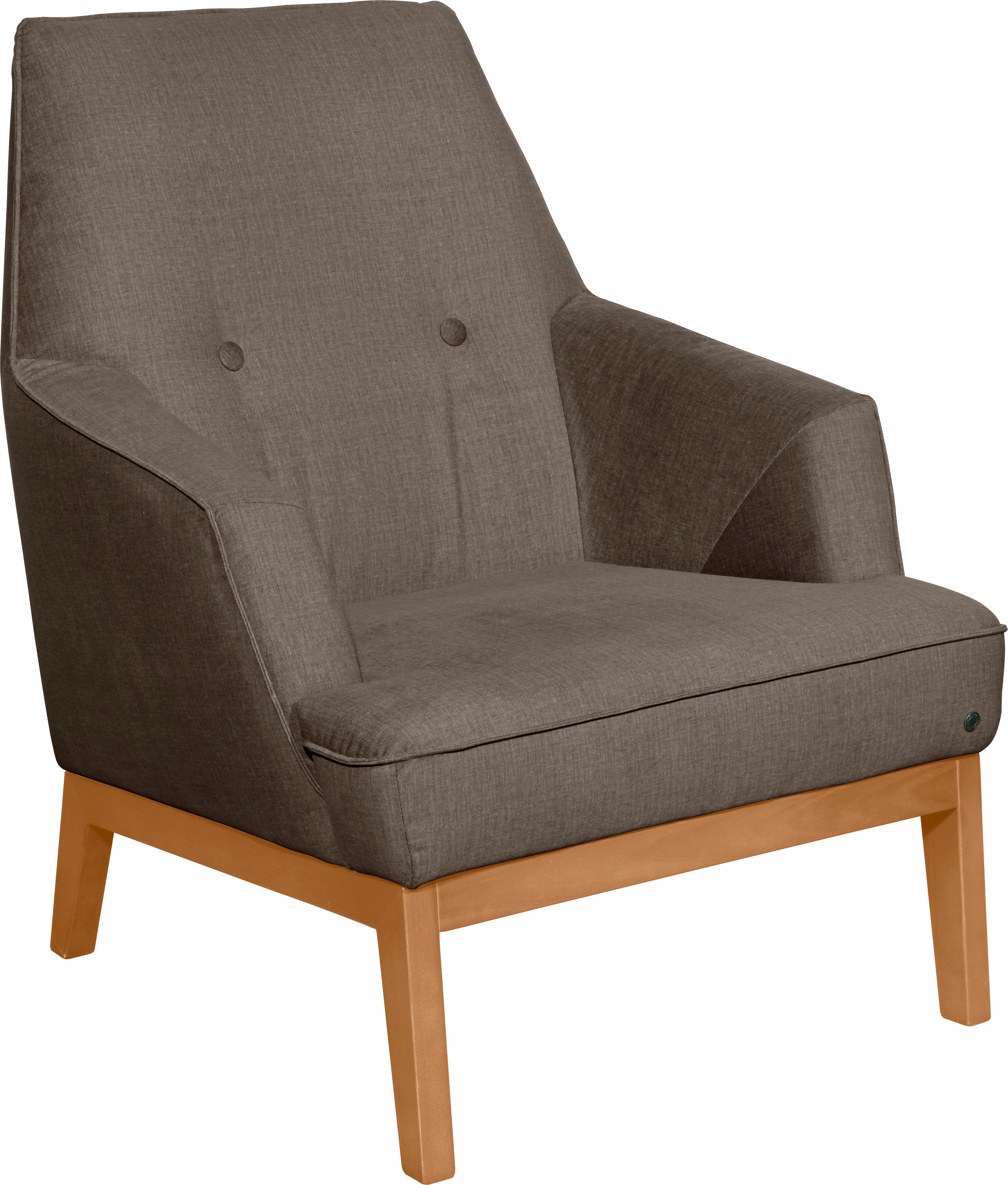 TOM TAILOR Sessel »COZY«, im Retrolook, mit Kedernaht und Knöpfung, Füße Bu günstig online kaufen