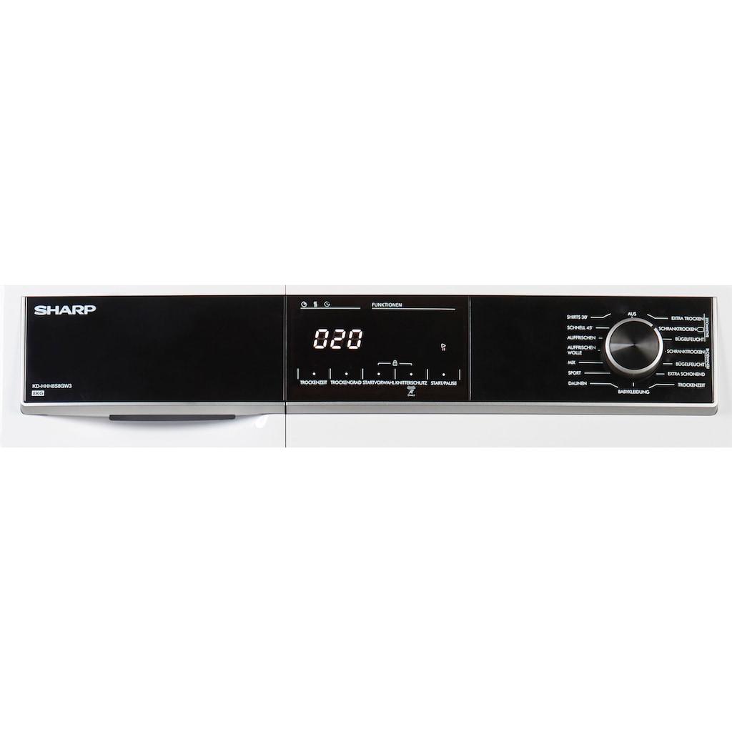 Sharp Wärmepumpentrockner »KD-HHH8S8GW3-DE«
