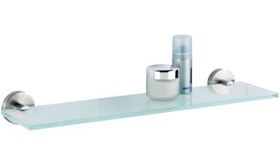 WENKO Wandablage »Bosio«, Glas, Edelstahl rostfrei, matt kaufen