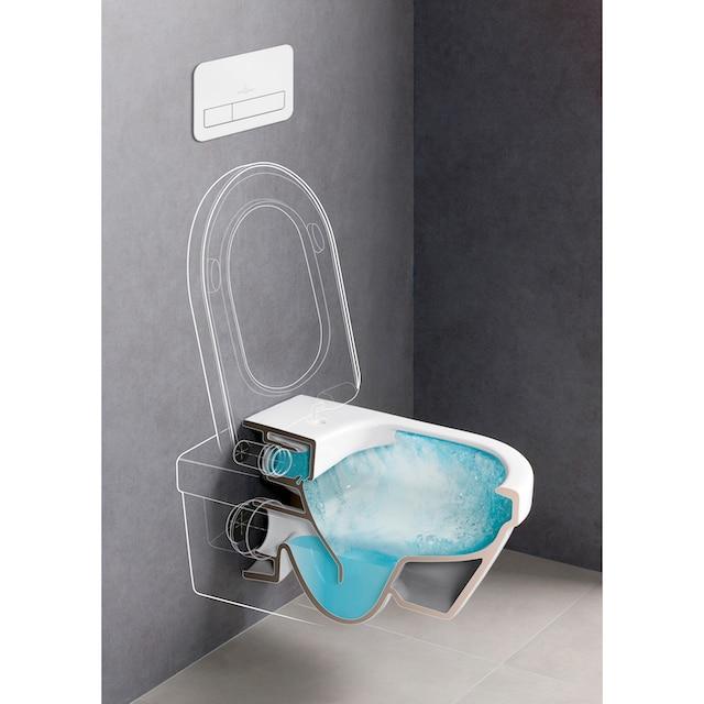 VILLEROY & BOCH Tiefspül-WC »Architectura«, spülrandlos, wandhängend mit DirectFlush, Weiß Alpin