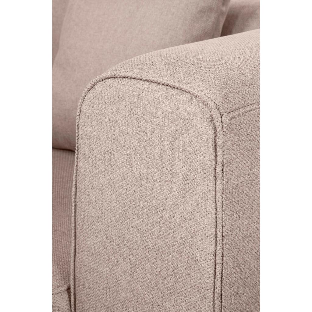Fink 3-Sitzer »MAXIM«, mit schmalem Holzsockel, inklusive 4 Zierkissen