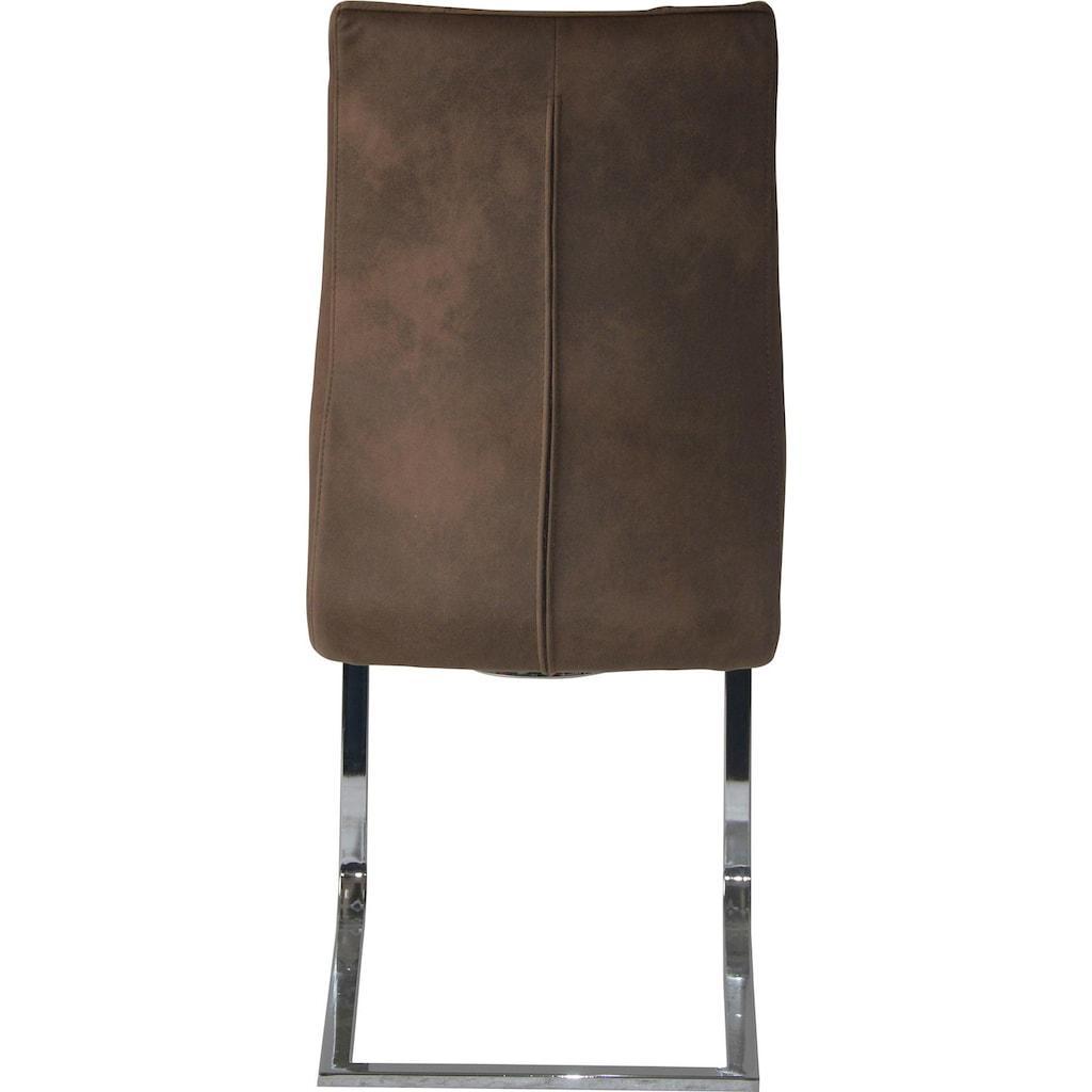 Homexperts Esszimmerstuhl »Maria«, Bezug in Microfaser-Vintage, Belastbarkeit bis 150 kg